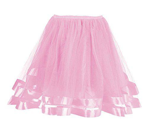 Tütü Feoya Tanz Kurz Retro Tüllrock hohe Taille Röcke mit EHYD92WI