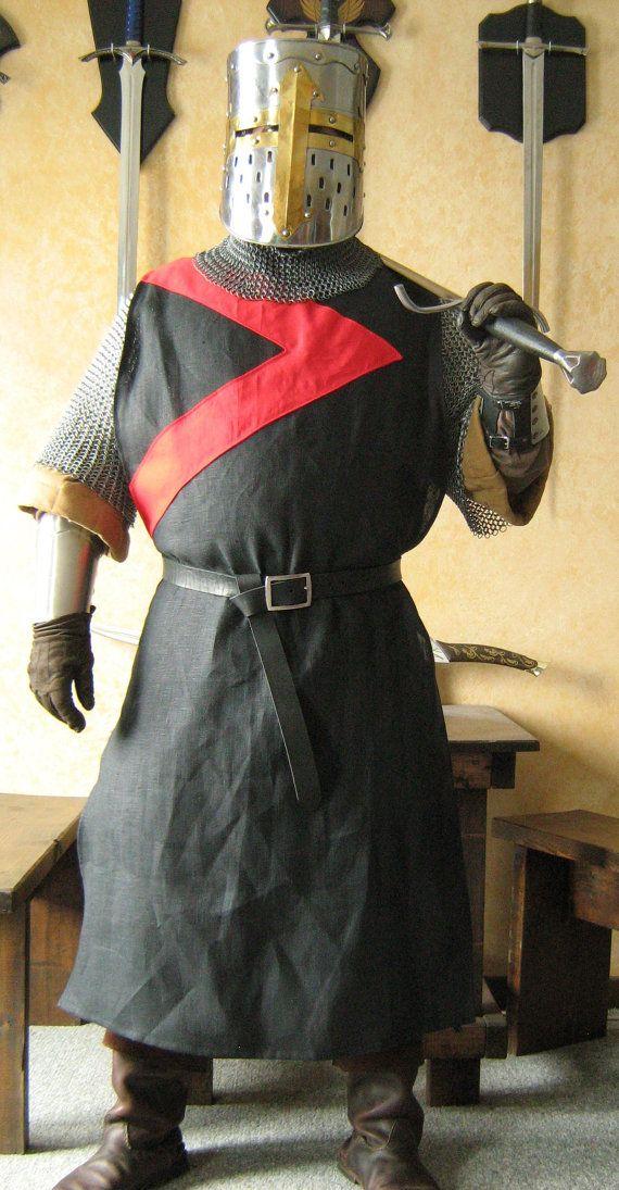 Surcoat Medieval Knight Heraldry SCA Tunic Tabard