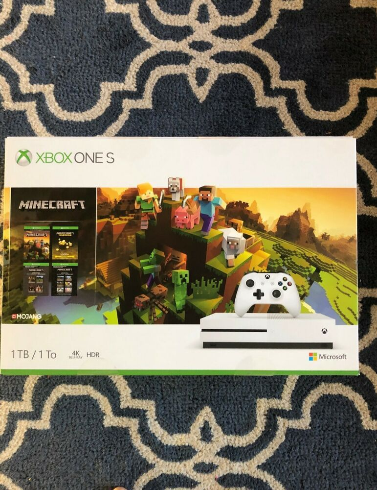 Box Only Microsoft Xbox One S 1tb Minecraft Bundle