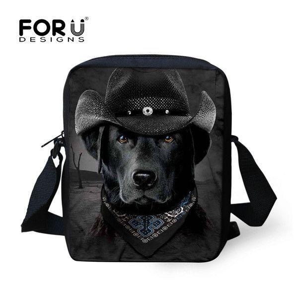 FORUDESIGNS Men Messenger Bags Casual Small Men's Travel Bag Funny Rock Band Dog Bulldog Fashion Crossbody Bag for Men Handbag
