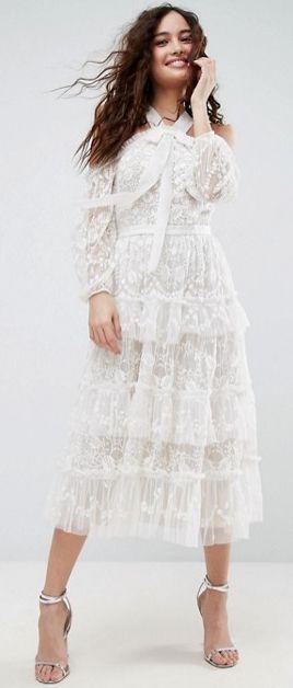 0f57820532d ASOS - Needle   Thread Primrose Lace Cold Shoulder Dress
