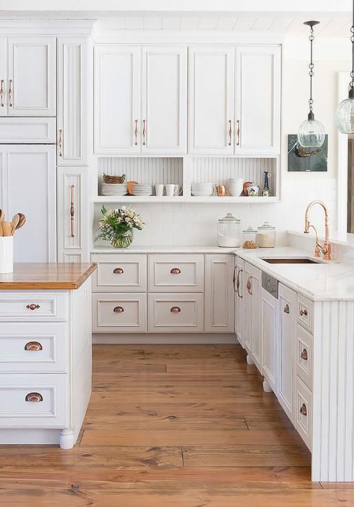 kitchens that inspire white and copper kitchen i love the open