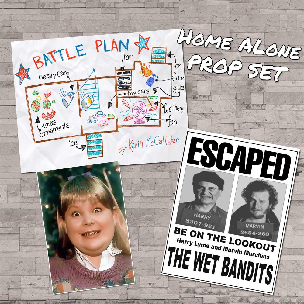 Details About Home Alone Movie Props Wet Bandit Wanted Buzz