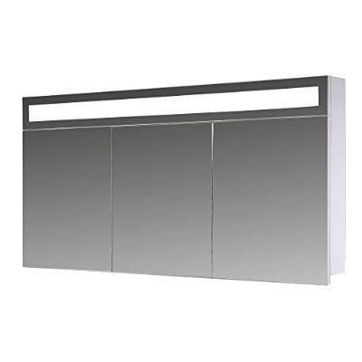 Eurosan Paris, P120, 3-türiger Spiegelschrank, Superflache - spiegelschrank badezimmer 120 cm