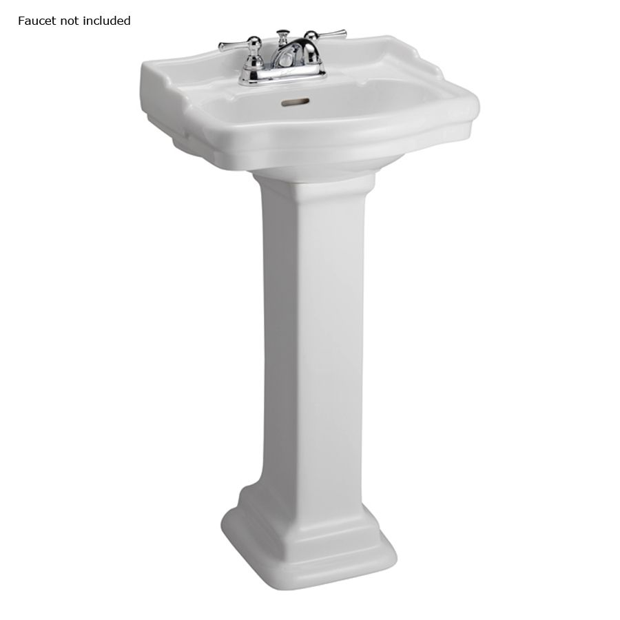 Barclay Stanford 34 25 In H White Vitreous China Pedestal Sink