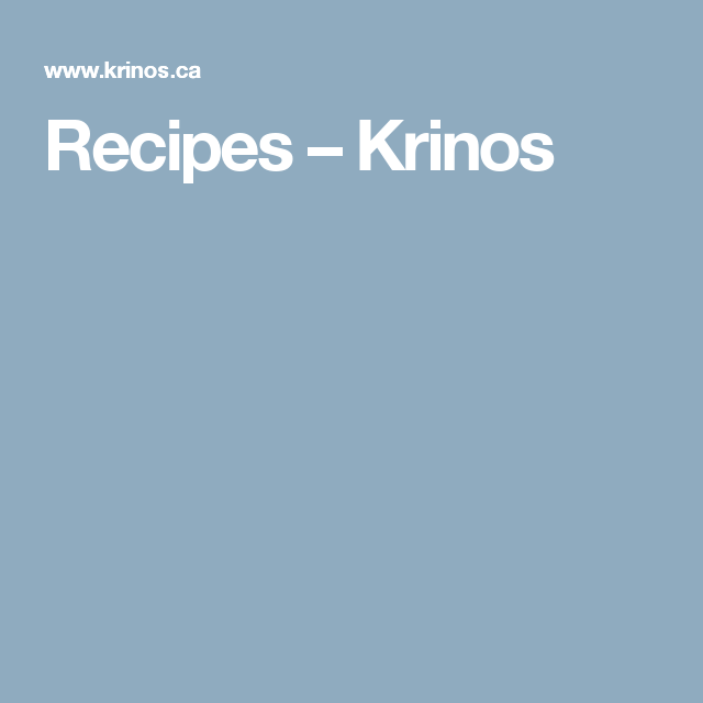 Recipes – Krinos