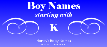 Boy Names That Start With The Letter K Each Name Links To A Popularity Graph