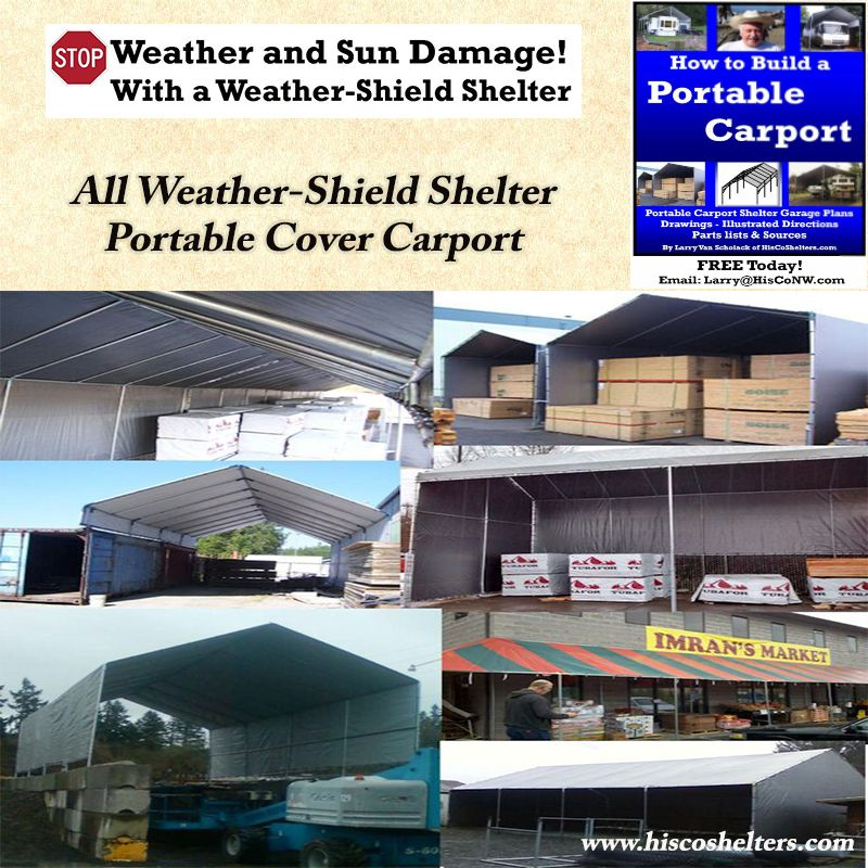 Hiscoshelters Com Commercial Industrial Portable Shelter Logic Carport Garage Canopy Material Equipment Covers Custo Portable Carport Carport Fabric Buildings