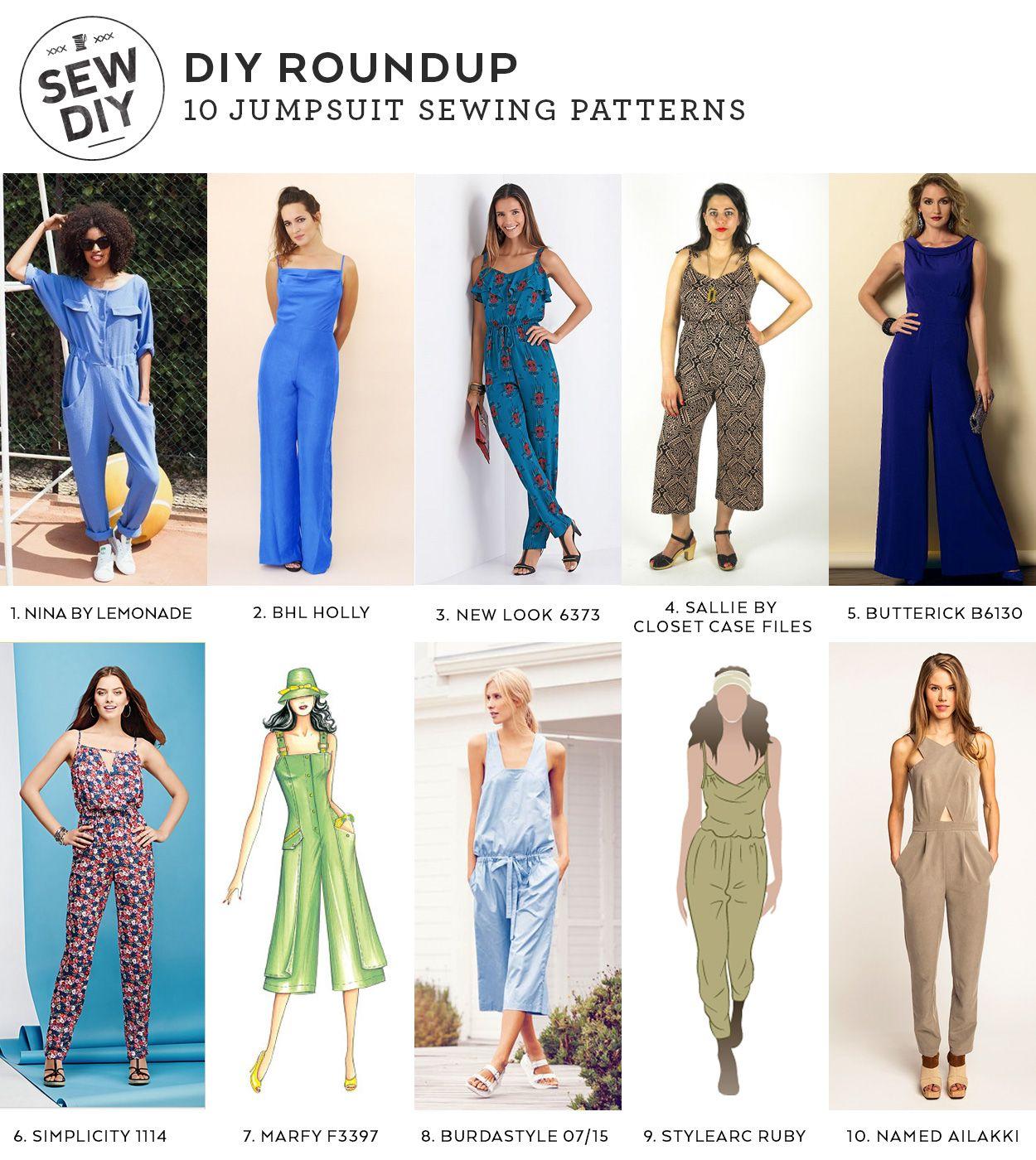 DIY Roundup – 10 Jumpsuit Sewing Patterns   Bragas, Costura y Mono