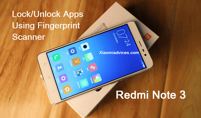 Redmi Note 3 How to lock/unlock apps using fingerprint