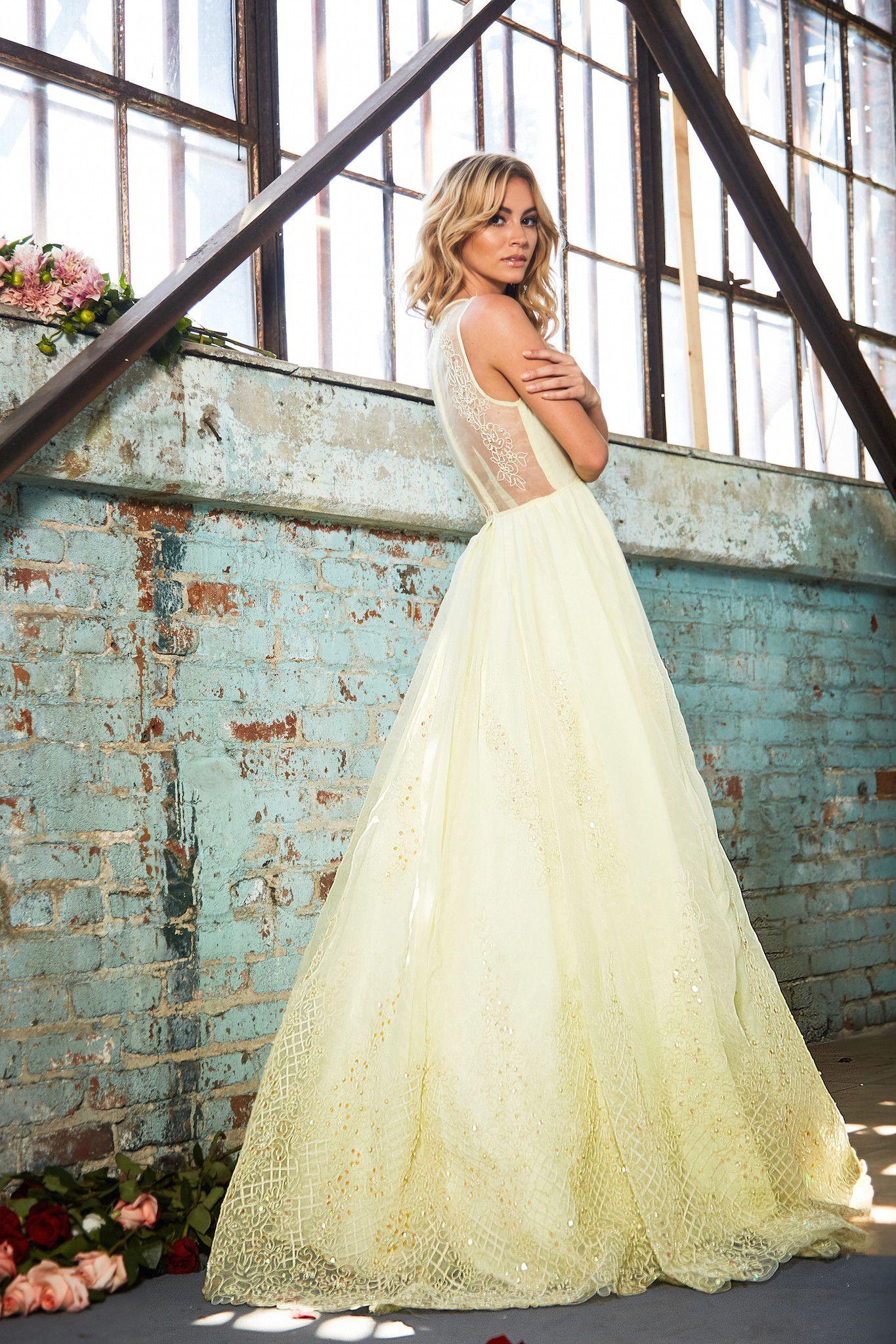 Yellow wedding dress - Lurelly Bridal Wedding Dress | fabmood.com