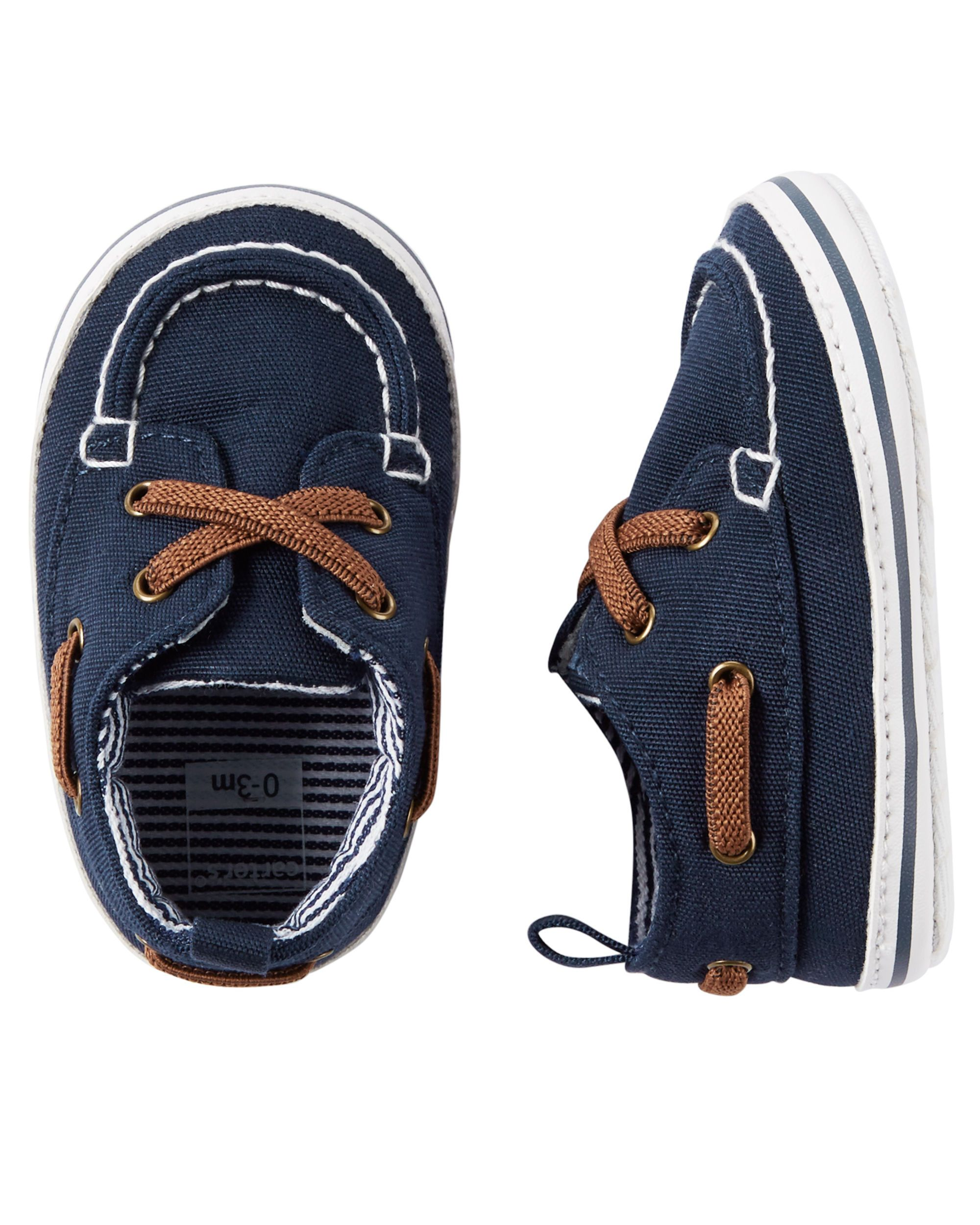 a567ac525a090 Baby Boy Carter s Boat Shoe Crib Shoes from Carters.com. Shop clothing    accessories from a trusted name in kids