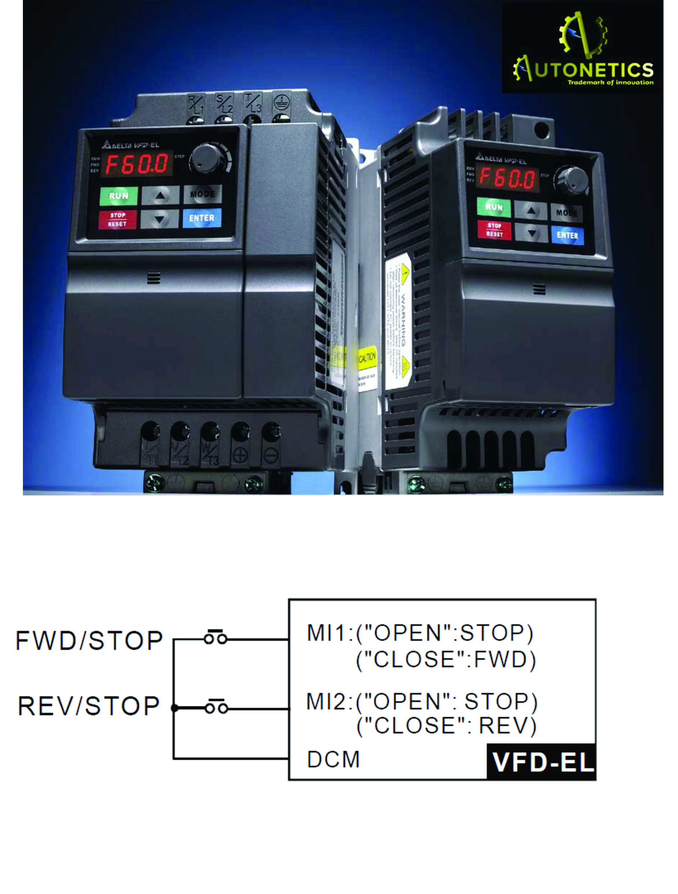 medium resolution of  delta el series vfd 2 wire connection join our new batches of plc and scada for more visit www autoneticstraining com