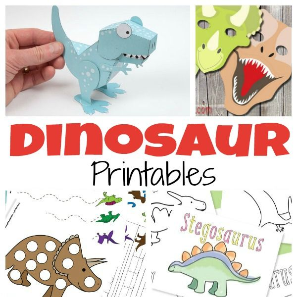 A Ton of Free Dinosaur Printables for Kids | Pinterest | Imprimibles ...