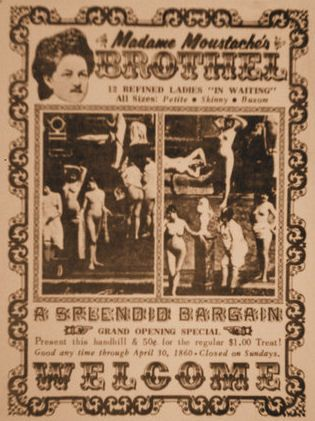 """Vintage Brothel Poster Wanted Posters Old Wild West 