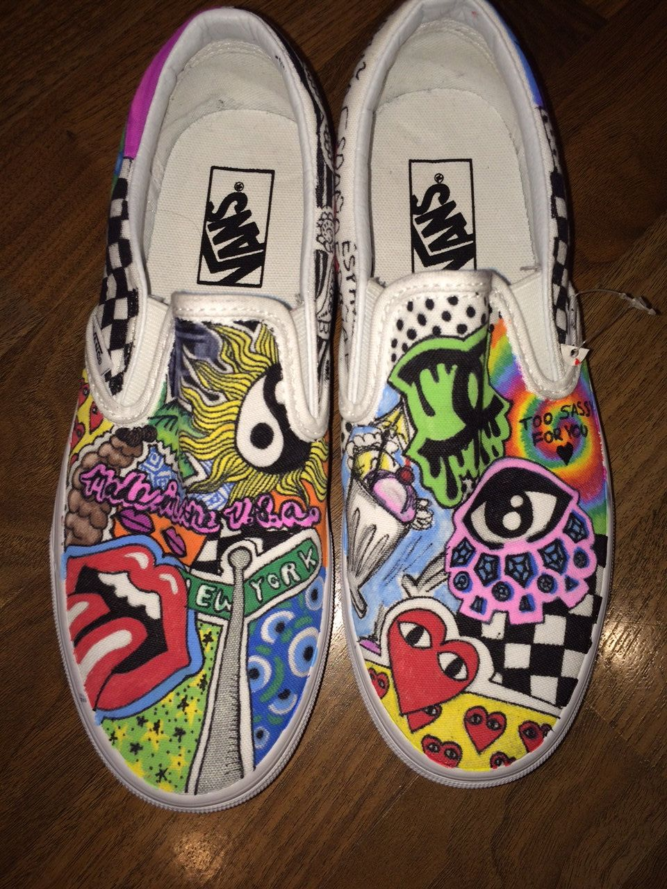 Customized Vans By Kicksbymaya On Etsy Custom Vans Shoes Vans