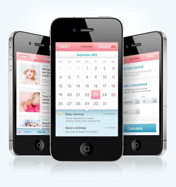 iPhone App - Pregnancy.hr by Krešimir Kraljević, via Behance