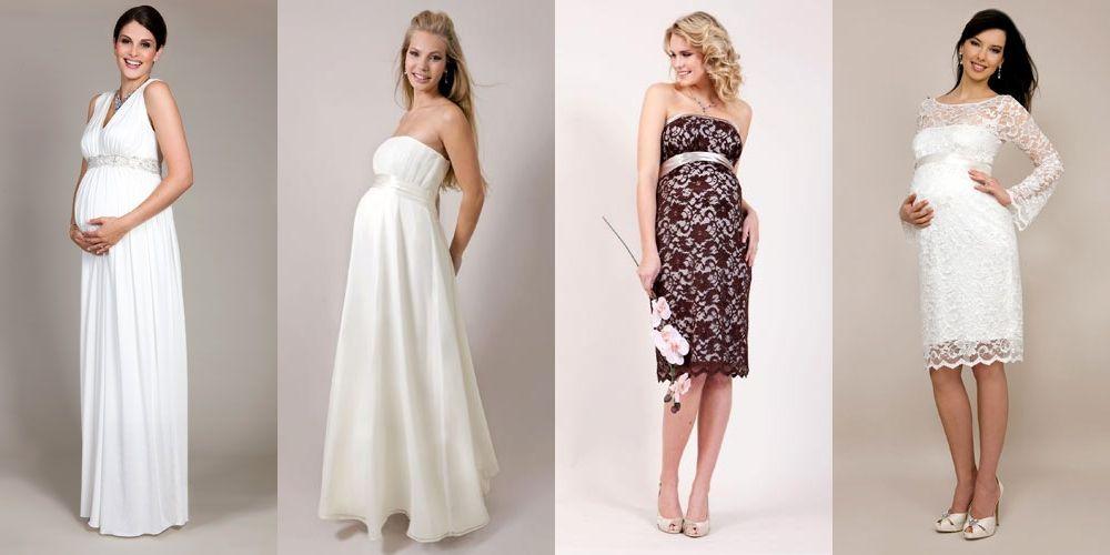 Как выбрать идеальное свадебное платье для беременной?