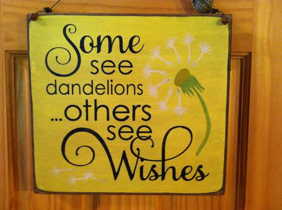 Some see dandelions....others see Wishes Sign by TimberRidgePrim