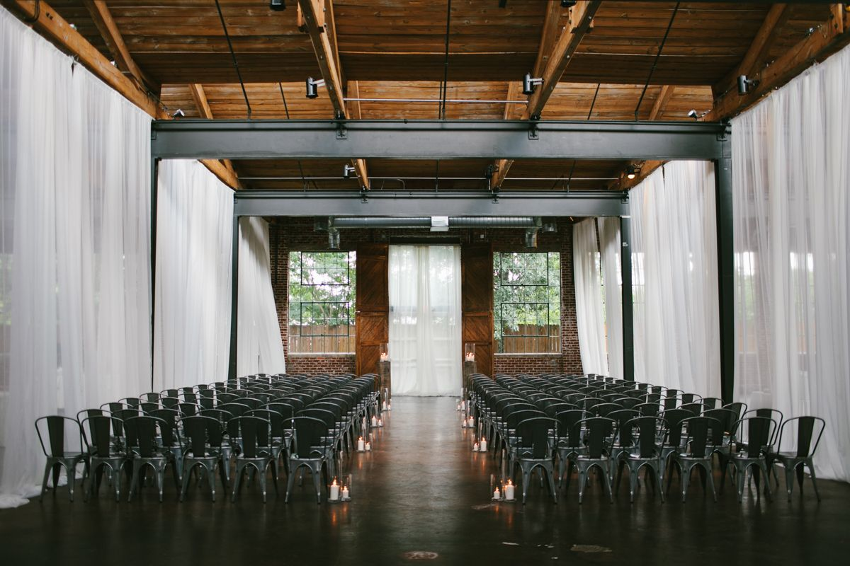 Industrial Wedding The Foundry at Puritan Mill Wedding