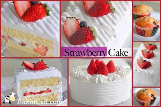 Strawberry Cake Blueberry Muffin Light Japanese Style Strawberry Cake Also Known As Japanese Strawberry Shortcake With Special Cream Cheese Filli Kulinariya