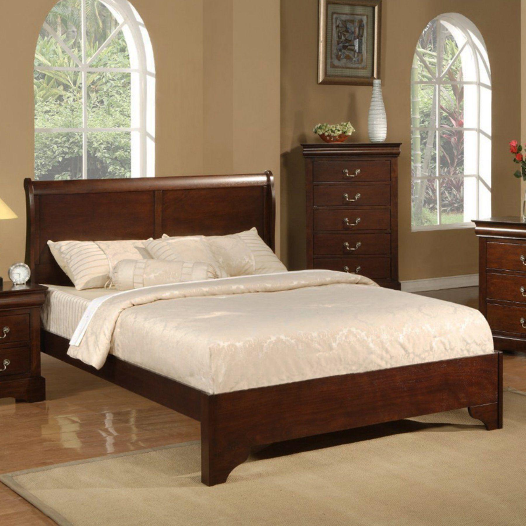 Alpine Furniture West Haven Sleigh Bed Sleigh bedroom