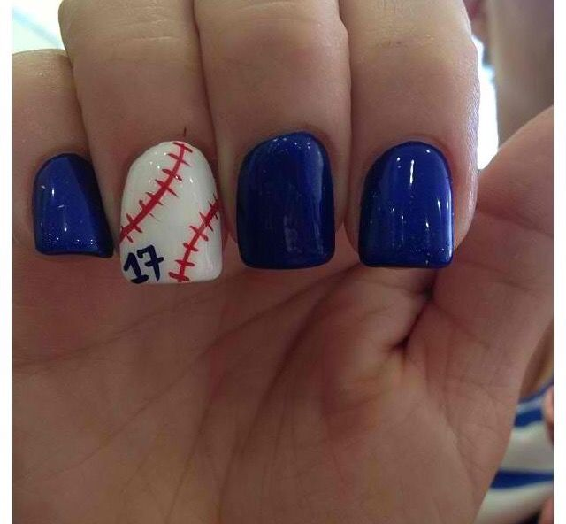 Nail design darker blue for Yankees color - Nail Design Darker Blue For Yankees Color Nails Pinterest Dark
