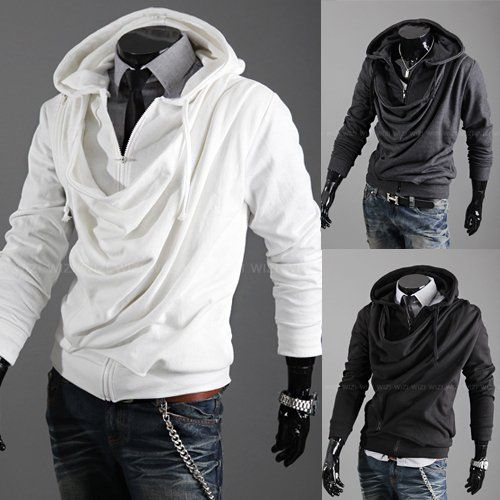 Details about Hot! 3 color Men's Slim Top Designed Sexy Hoody ...