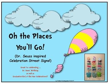 Dr. Seuss Inspired Celebration Street Signs | Kindergarten ...