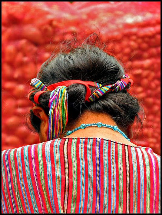 Guatemala...H had this twist done to her hair there once.  Wish I could get it right.  I bought the tie.  ;o)