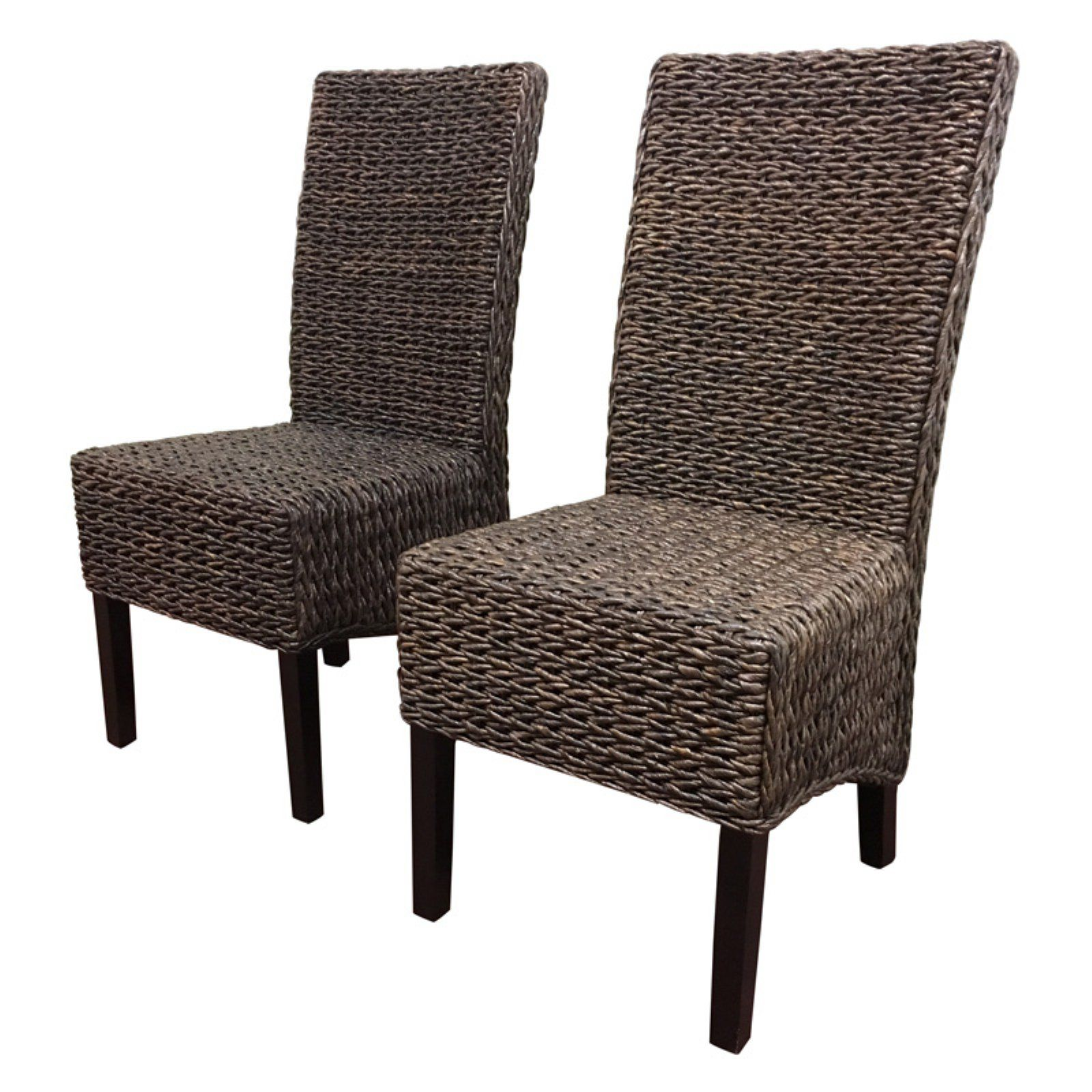 Seagrass Dining Chair Wicker Paradise Barbados Seagrass Dining Chair Set Of 2 In 2019
