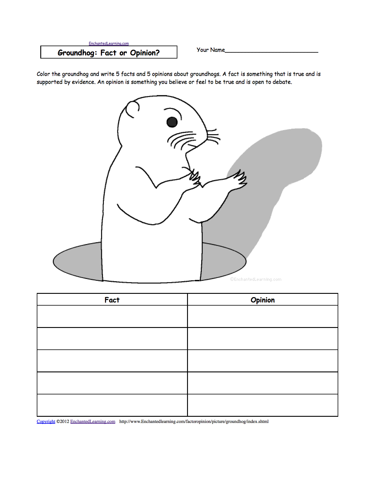 Groundhogs Groundhog Day Crafts Worksheets And Printable