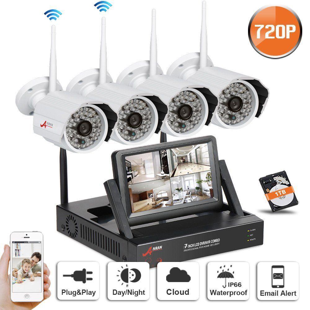 Swinway Wireless Security Camera System Home Security Camera System With 4 Security Cameras For Home Wireless Home Security Systems Wireless Security Cameras