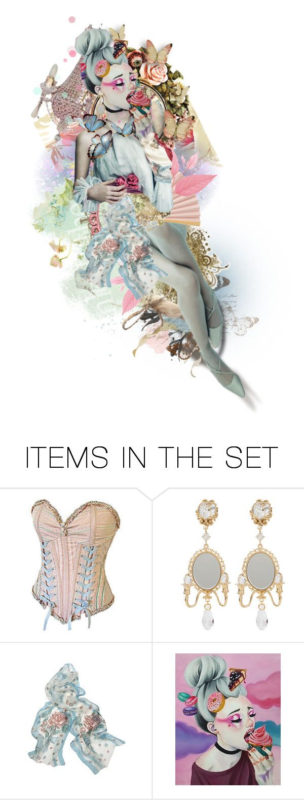 """Marie"" by felicia-mcdonnell ❤ liked on Polyvore featuring art, MarieAntoinette and polyvoreeditorial"