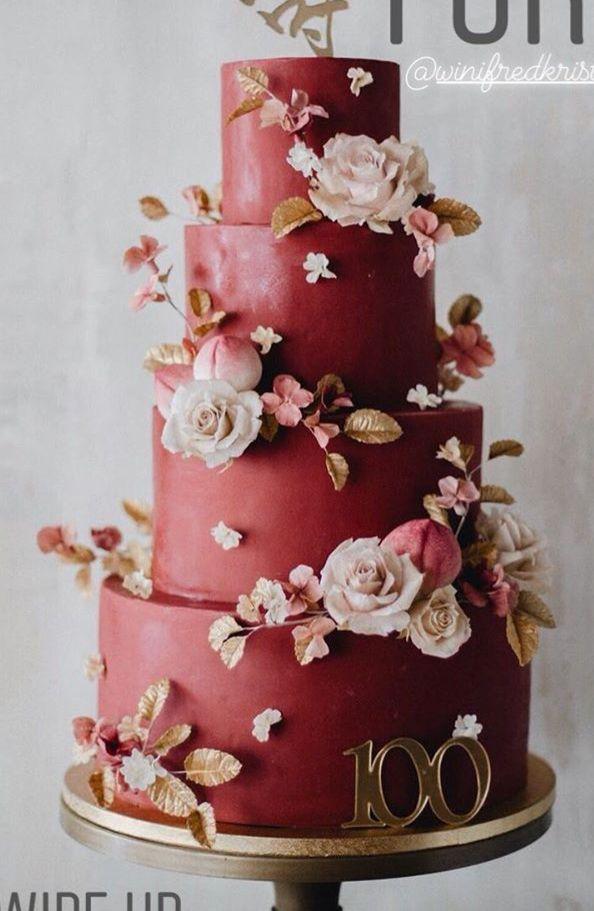 Follow Us Signaturebride On Twitter And On Facebook Signature Bride Magazine Wedding Cake Red Floral Cake Wedding Cake Fresh Flowers