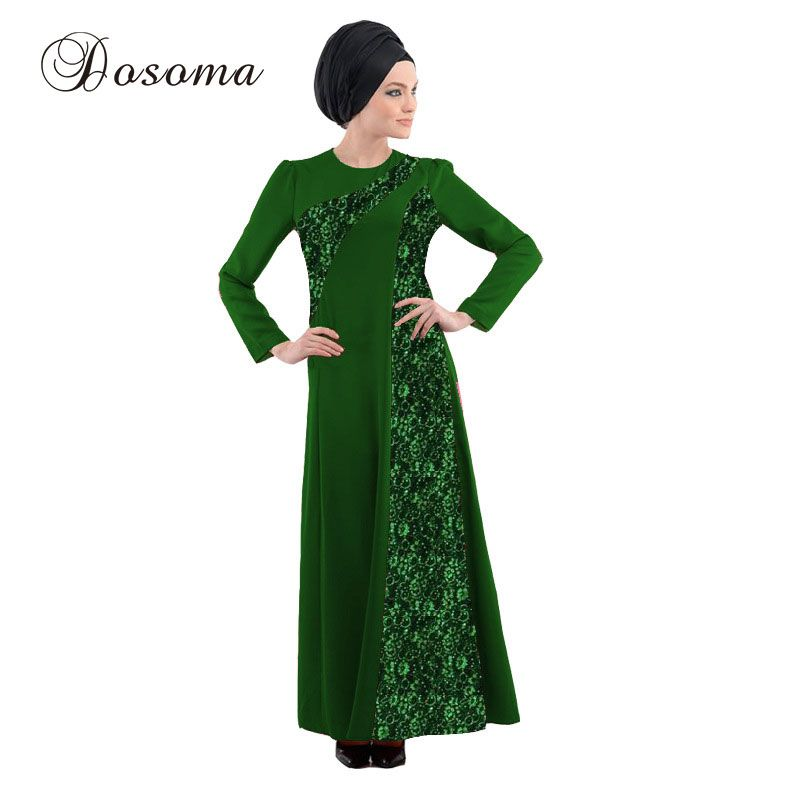 Muslim Women Print Abaya Maxi Dress Lace Burka Indian Patch Sleeve Robe Kimono Vestido Kaftan Instant Hijab Arab Islamic Prayer