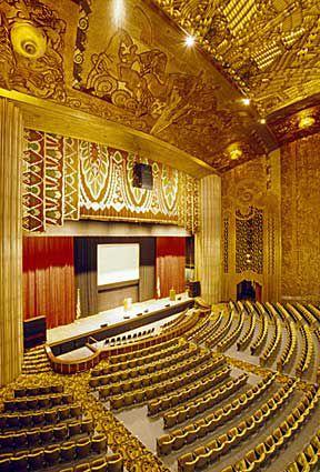Paramount Theater Oakland Ca Theatre Interior Streamline Moderne Art Deco Architecture