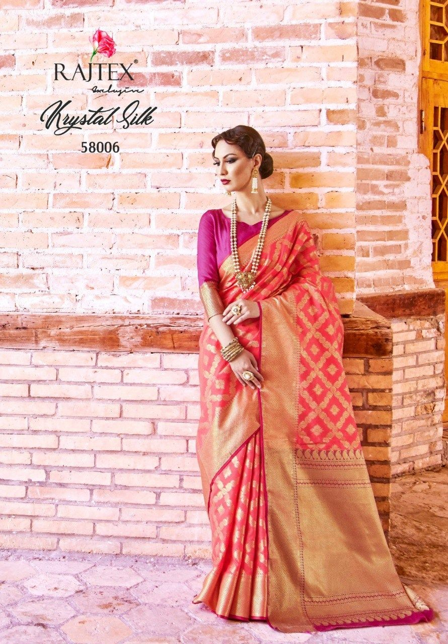 b8b870070c RAJTEX KRYSTAL SILK TRADITIONAL WEAR SAREE CATALOG MANUFACTURER WHOLESALER  AND EXPORTER OF INDIAN ETHNIC WEAR IN INDIA | Sagar Impex