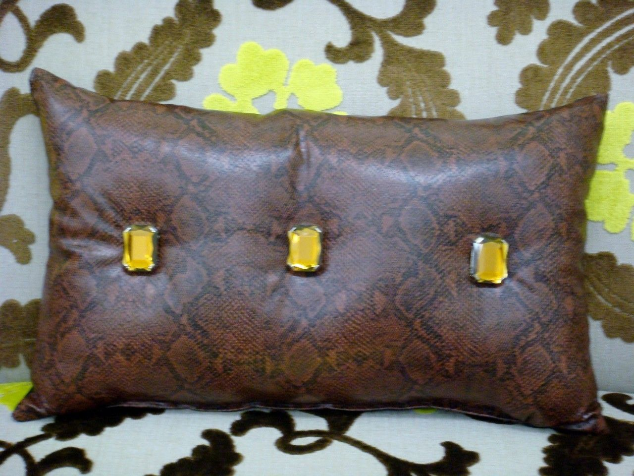 pin pillow snakeskin throw brown pillows bling x