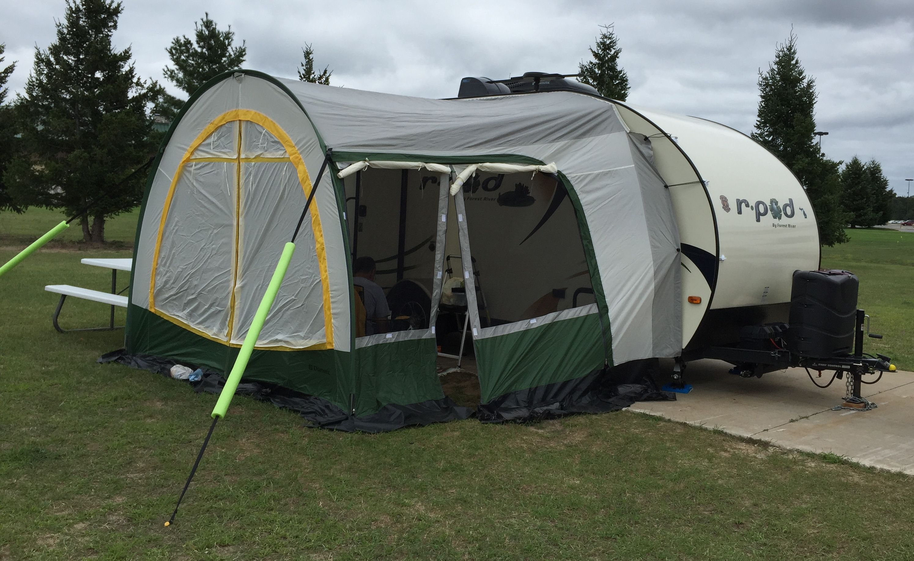 Pool Noodles Placed Over Tie Down Straps To Make Them More Visible R Pod 179 R Dome Pod Camper R Pod Travel Trailer Living