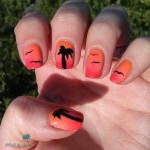 Sunset Nails - Inspiration Pshiiit + Sara Beauty Corner ...