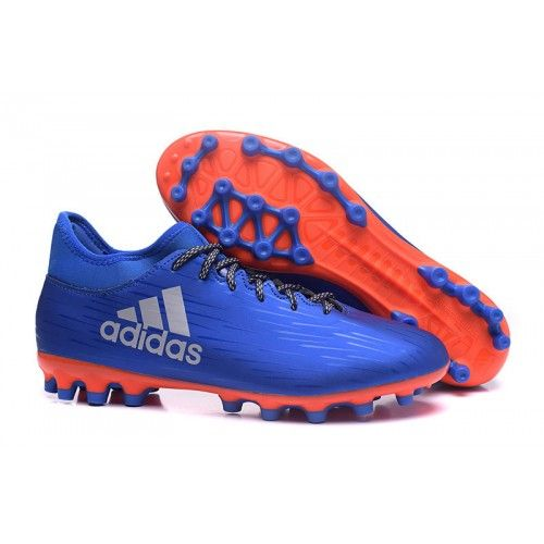 Discount Adidas X AG Mens Football Boots Soccer Cleat Blue Orange Online