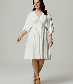 Plus Size White Summer Dress With Sleeves 2016 2017 B2b Fashion