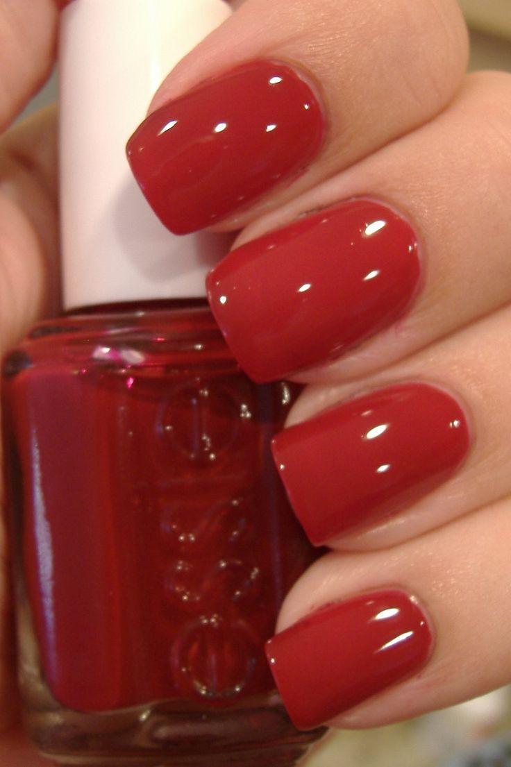 S oliver red dress nails  Essie nail colors, Essie nail polish