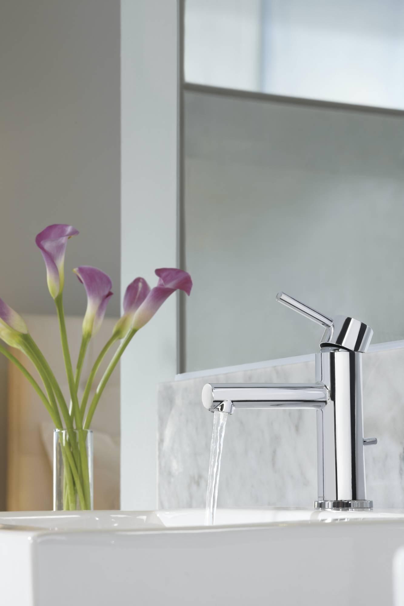 Moen 6190BN Align One-Handle High Arc Bathroom Faucet, Brushed ...
