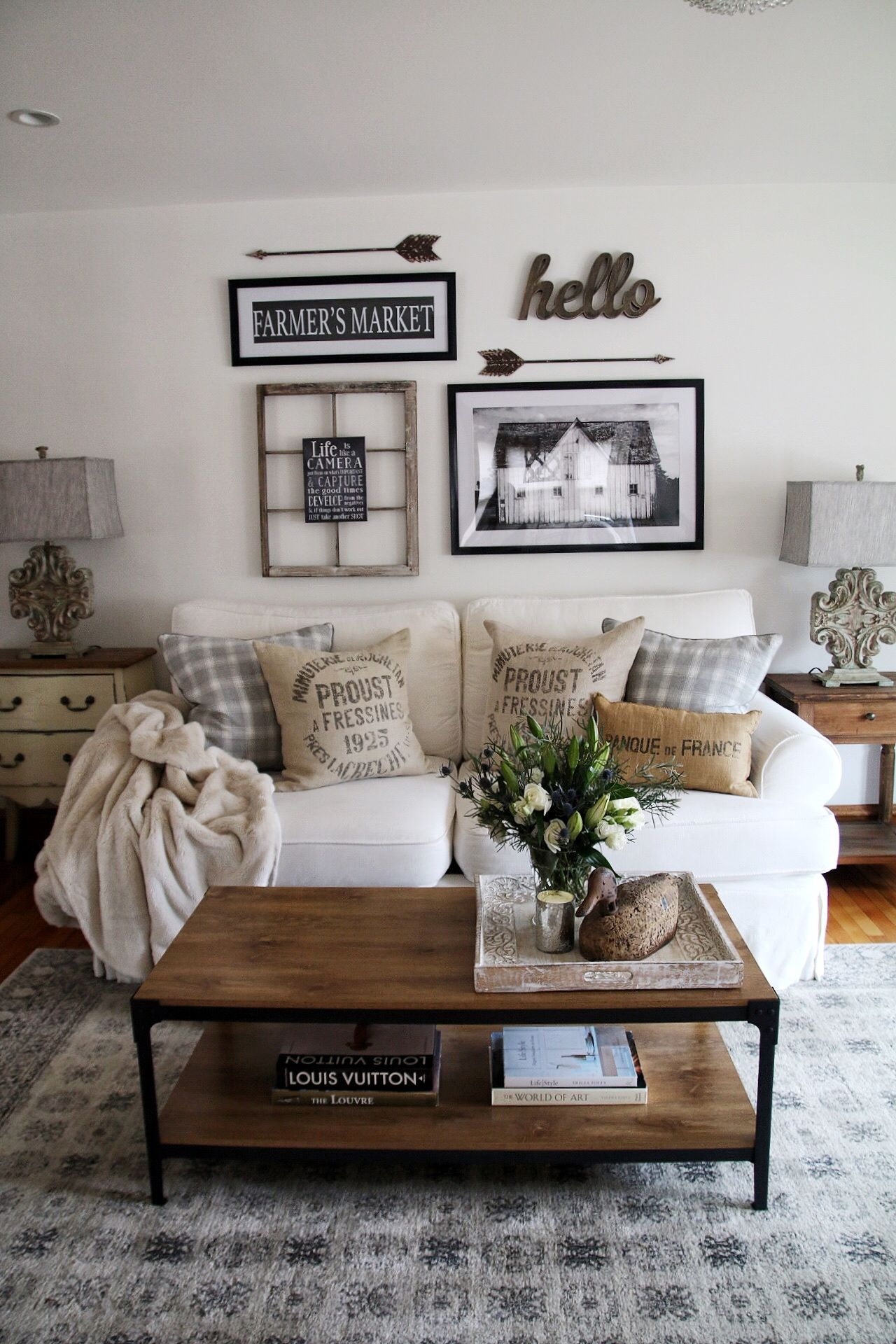 farmhouse living room How to decorate your
