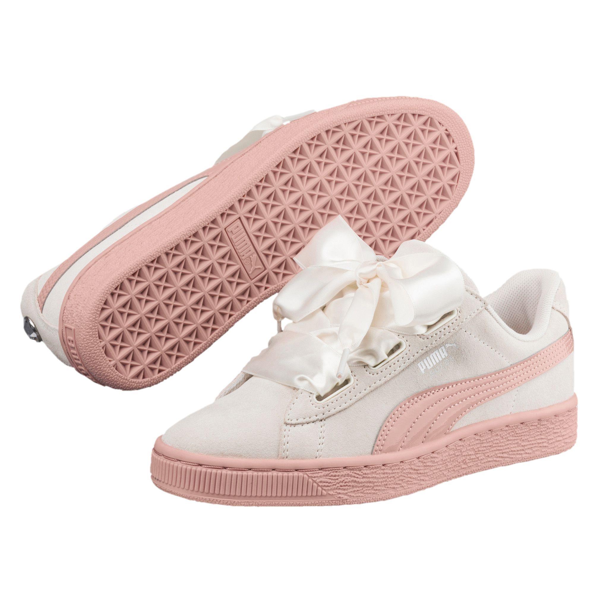 best cheap 40274 e63dd PUMA-Suede-Heart-Jewel-JR-Sneakers-Girls-Shoe-Kids-New ...
