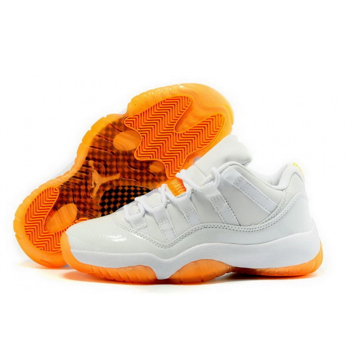 0f7838c93e81b5 Womens Air Jordan XI 11 Retro 2015 Low GS Citrus White Orange Basketball  Shoes
