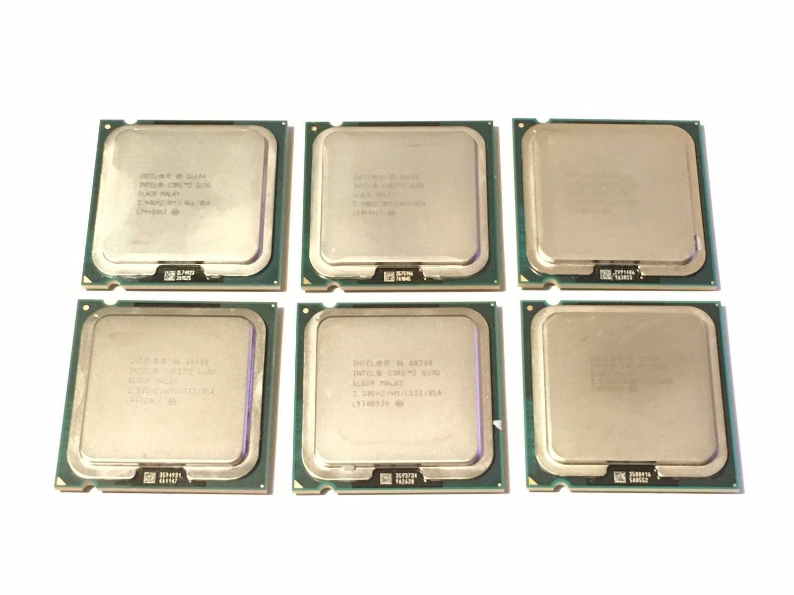 Lot Of 6 Intel Core 2 Quad Cpu Processors Q9550 Q8300 Q8200 Q6600 Processor Tested Working