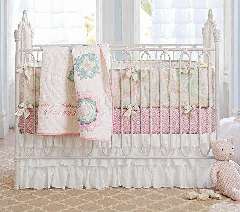 Maya Fl Nursery Bedding Set Pottery Barn Kids Baby